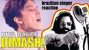 Brazilian Singer reacts DIMASH - DIVA DANCE Bastau (SUBS)