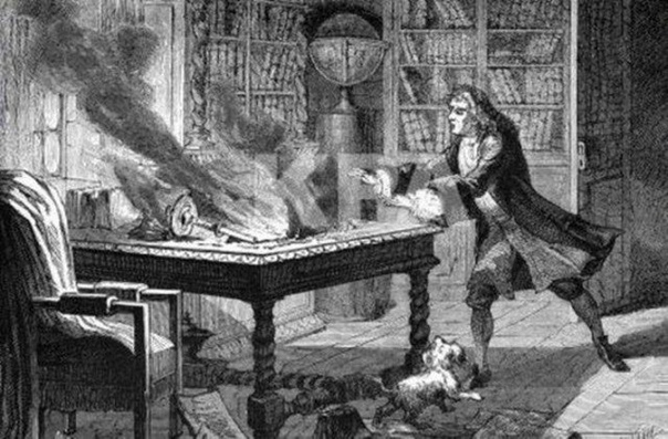 Как собака Ньютона уничтожила труд ученого