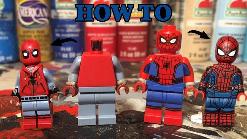 HOW TO MAKE A CUSTOM LEGO SPIDERMAN TUTORIAL