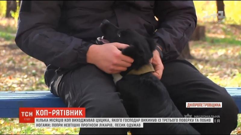 Зоозахисник у погонах. На Дніпропетровщині коп врятував цуценя