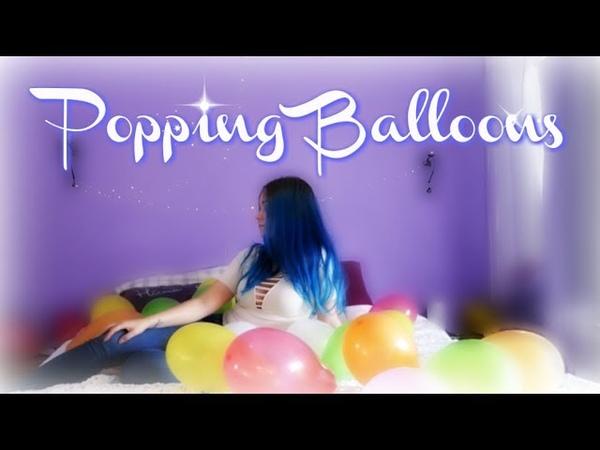Girl Popping Balloons | ASMR |