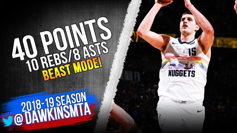 Nikola Jokic Full Highlights 2019.01.13 Nuggets vs Blazers - 40 Pts, 10 Rebs, 8 Asts! | FreeDawkins