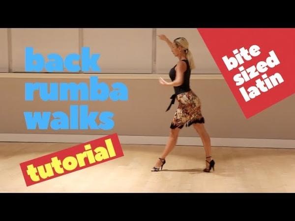 Bite Sized Latin Back rumba walks Exercise Ballroom Learn latin fast Anna Kovalova