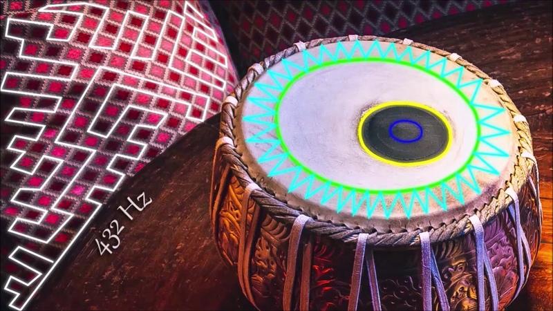 Relaxing Hang Drum Tabla Music | Yoga | 432 Hz | ♬023
