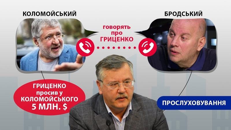 Гриценко просив у Коломойського 5 млн (Опубліковані матеріали прослуховування)