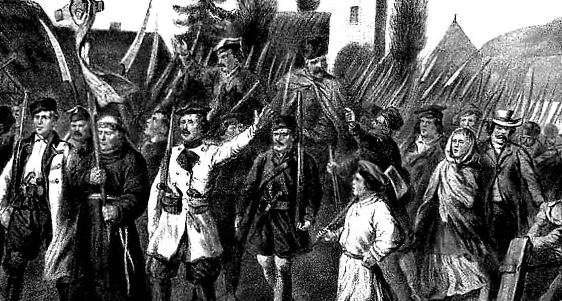 Восставшие в землях литвинов выступают в поход