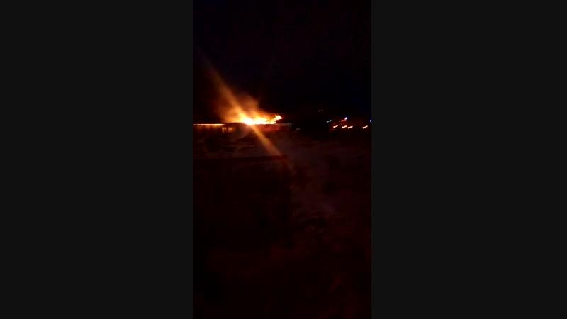 пожар на территории Военного госпиталя.