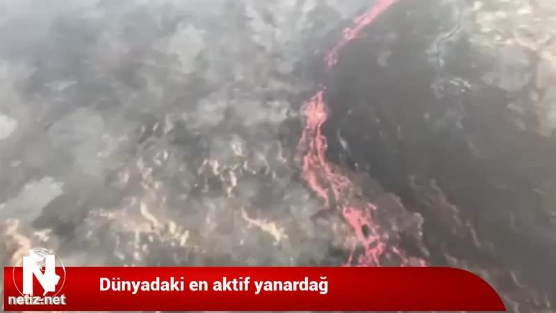Dünyada en aktif yanardağ