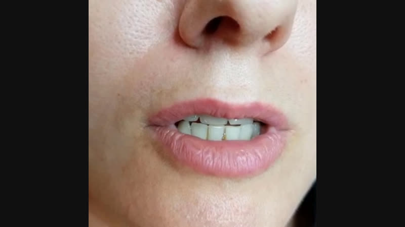 """Заживший перманентный макияж губ🤗 Техника безконтурного напыления, оттенок """"NUDE"""""""