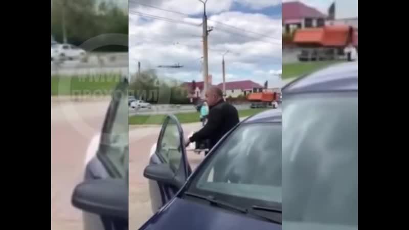 Таксист с ножом в Новокуйбышевске около ТЦ Сити Парк