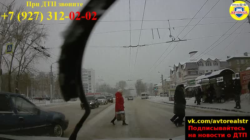 AvtoRealSTR.Ru - video12. Обгон на пешеходном переходе