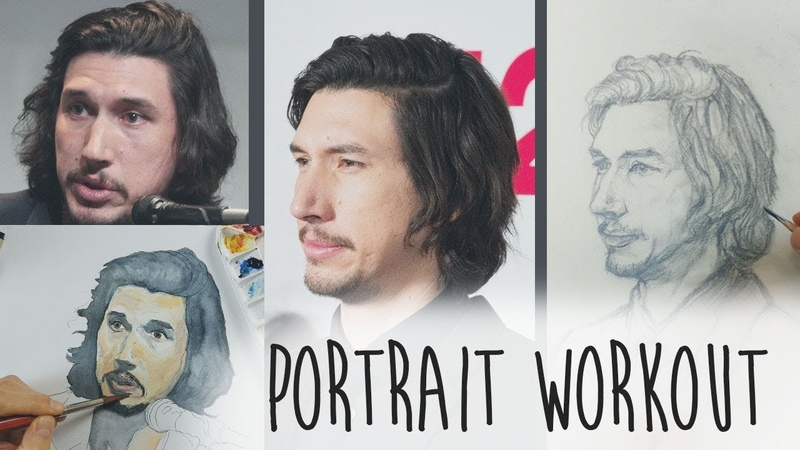 How to draw Adam Drivers face - PORTRAIT tutorial