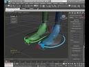 3ds Max Establishing secondary foot controls Установление вторичного ножного управления