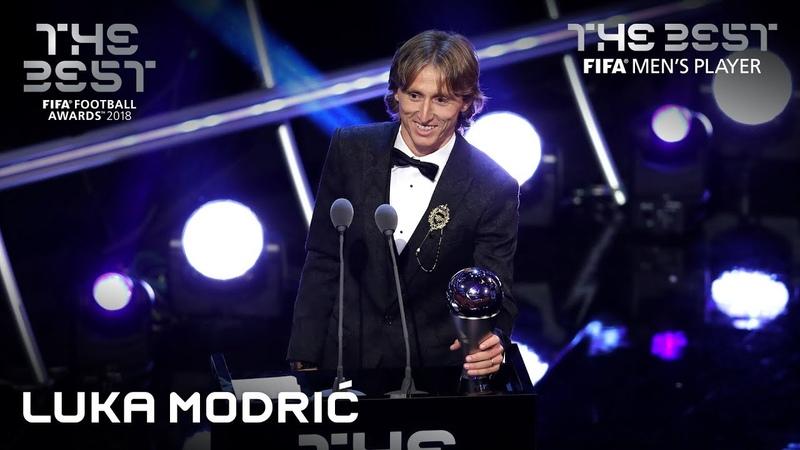 Luka Modric reaction - The Best FIFA Mens Player 2018