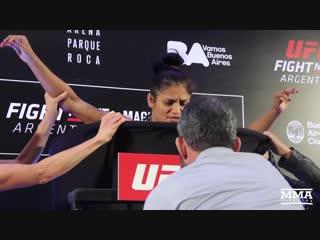 Боец UFC Синтия Кальвия потеряла сознание на взвешивании