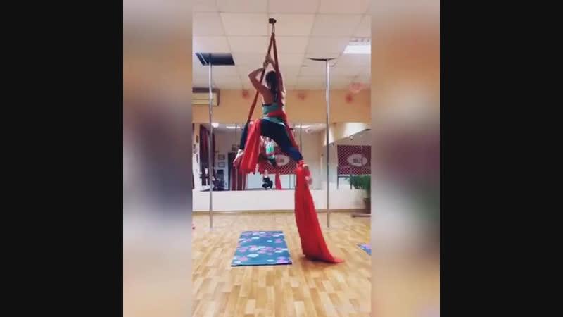 Анечка💕 связка на полотнах 💕 тренер Настасья Онищенко