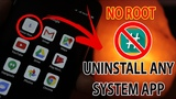 Uninstall System Apps Without Root in any Android