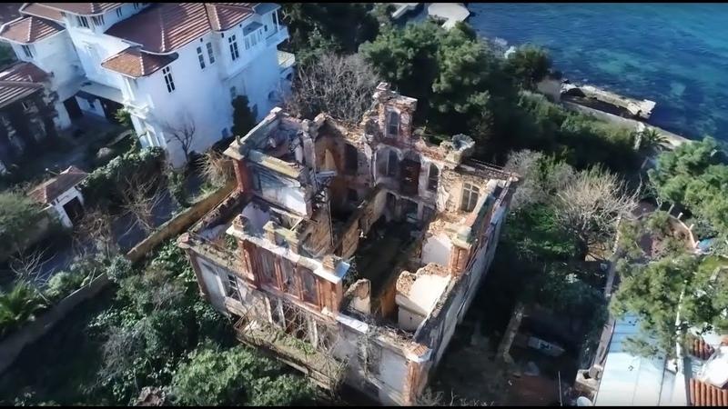 Изгнание с видом на море беспилотник облетел полуразрушенный дом Льва Троцкого в Турции