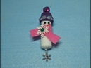 DIY~Adorable Easy Snowman Ornament! Collab W/Craftie!