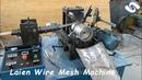 Spiral diamond mesh making machine for industrial oil filter