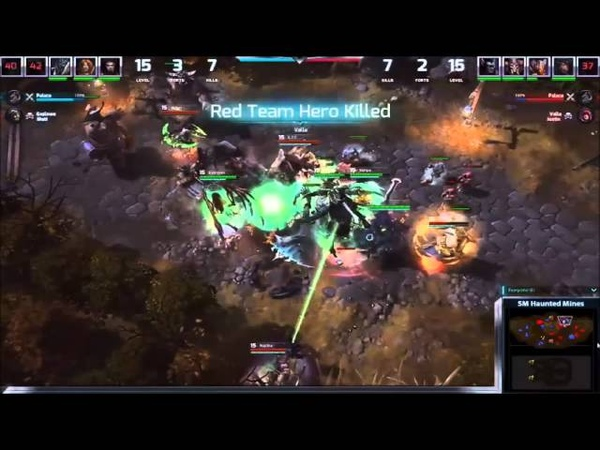 Heroes of the Storm Developer match - Haunted Mines