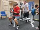 Жим лежа слинг-шоты 145 кг на 3 раза.
