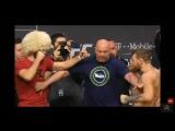 Конор МакГрегор и Хабиб Нурмагомедов на Церемонии Взвешивания UFC 229