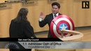 California councilman, Lan Diep sworn in with Captain America's Shield | Inverse