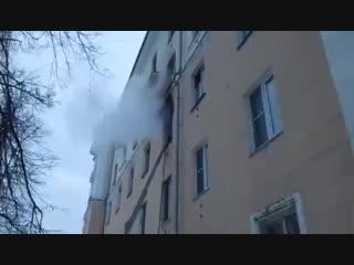 Пожар на проспекте Ленина в Нижнем Новгороде
