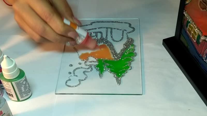 Витражная краска для стекла fractal_paint