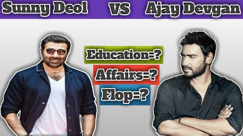 Sunny Deol Vs Ajay Devgan Comparison | Biography, Age, Movies | By Animated Universe.