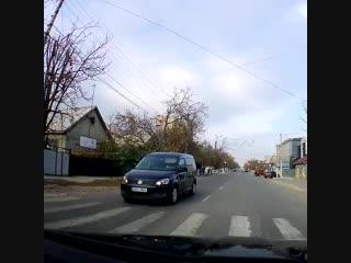 В Комрате две машины пропустили кошку, которая переходила дорогу по «зебре».mp4