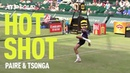 Tsonga Paire Play FOOTBALL in Halle 🤣⚽  HOT SHOT   ATP