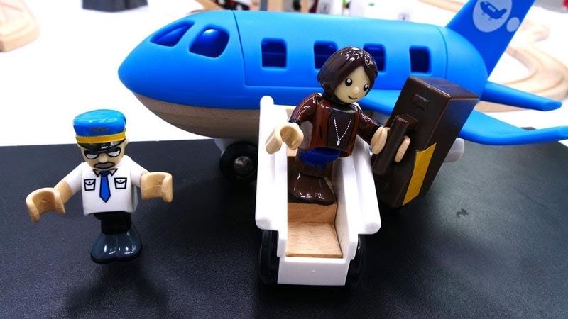 Vidéo en français pour enfants de jouets Brio: construction d'un aéroport