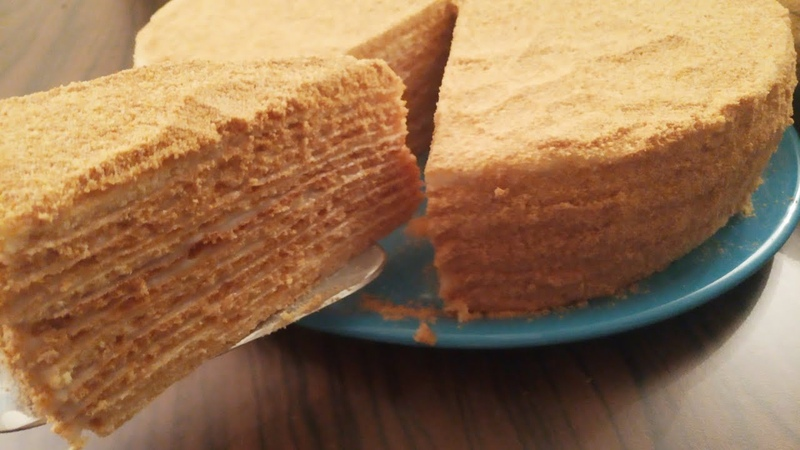 Медовый торт с заварным кремом / Balli tort.Pambiq kimi oldu her kes cox beyendi😋😋