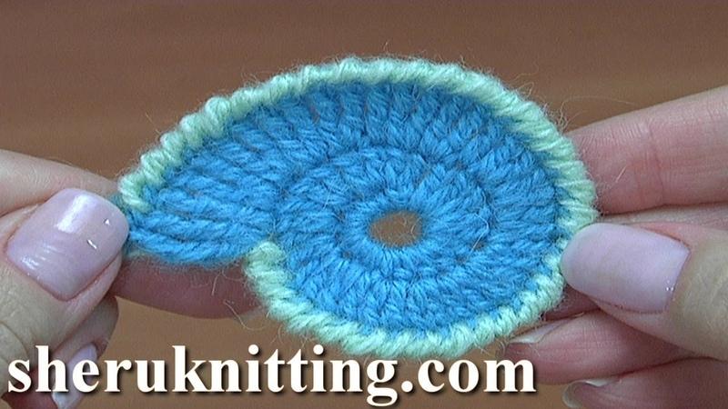 Crochet Spiral Element Tutorial 12 Part 1 of 2 Freeform Crochet