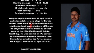 Deepak Hooda Indian Cricketer Biography With Detail