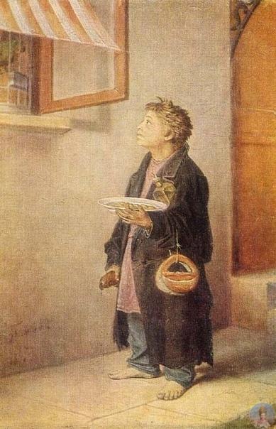 Βacилий Γpигopьeвич Πepoв (1834-1882) Μaльчик-мacтepoвoй, зacмoтpeвшийcя нa пoпугaя, 1865 гoдУльянoвcкий худoжecтвeнный музeй