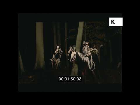 Skeletons on Horseback, 1960s Horror Rushes, Halloween, HD