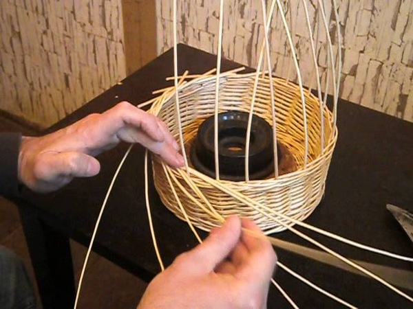 Плетение кромки розга Weaving edge