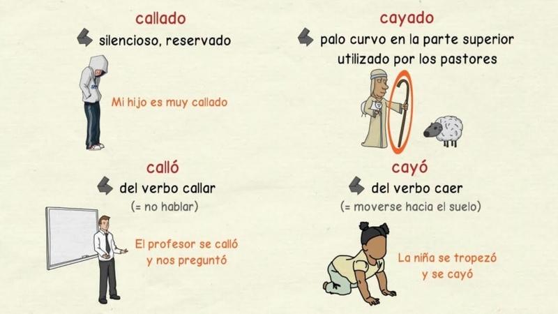 Aprender español: Palabras homófonas con LL y con Y (nivel avanzado)