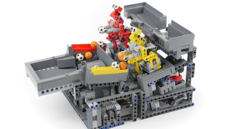 Lego GBC module Catch and Spin Robots