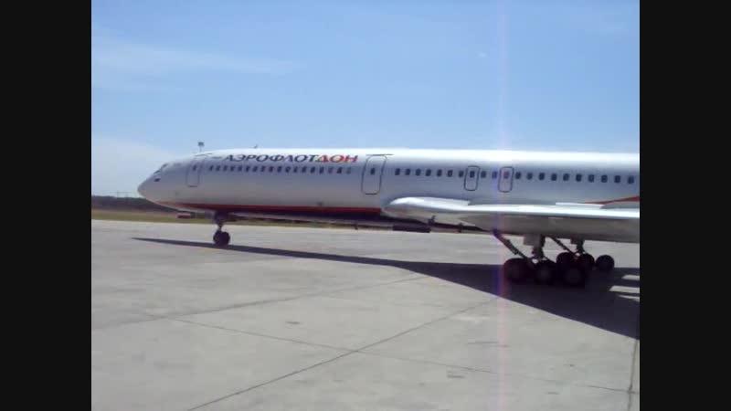 Запуск и взлёт Ту-154М RA-85640