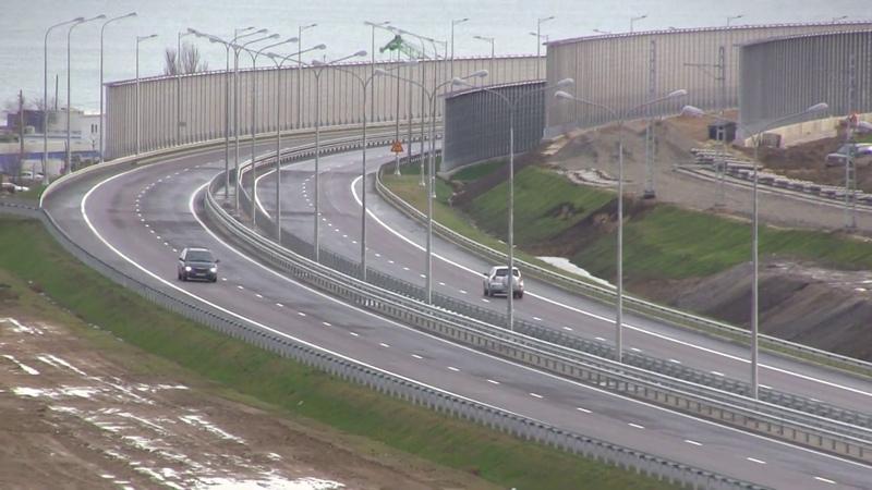 Вид НС. Ж-Д подходы въезд-выезд с керченского моста.Автоподход Керчь.