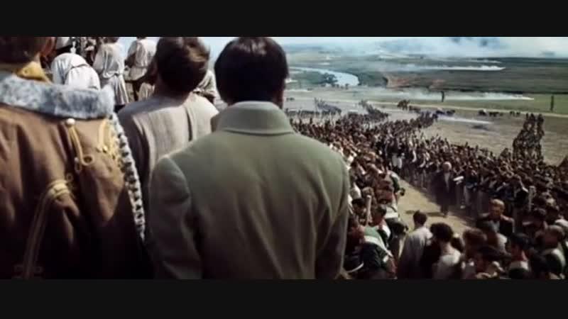 Тетралогия С.Бондарчука Война и мир. Сцена молебна перед Смоленской иконой перед началом Бородинской битвы