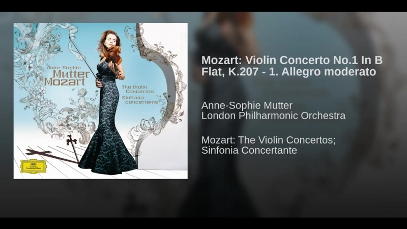 Mozart- Violin Concerto No.1 In B Flat, K.207 - 1. Allegro moderato