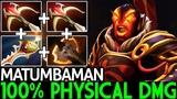 Matumbaman Ember Spirit 100 Physical Damage Build Crazy Gameplay 7.19 Dota 2