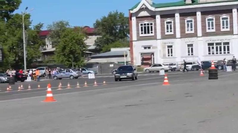 Джимхана Фигурный Пилотаж 2014 автошкола БЦВВМ. Автослалом, дрифт Барнаул