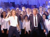 Celine Dion ft Johnny Halliday - lenvie (les 500 choristes, 5 nov 2005 live)