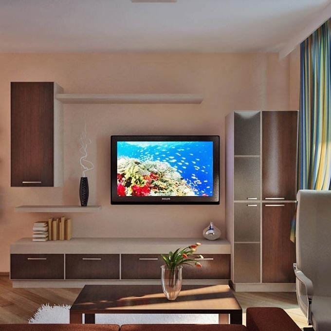 Практичный и современный дизайн квартиры-студии.
